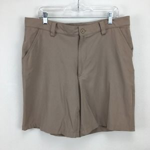Under Armour 36 R Tan Shorts Baseball Workout